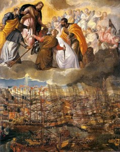 Paolo Veronese, Allegory of the Battle of Lepanto, c.1573, Hall of the Great Council, Palazzo Ducale, Venice